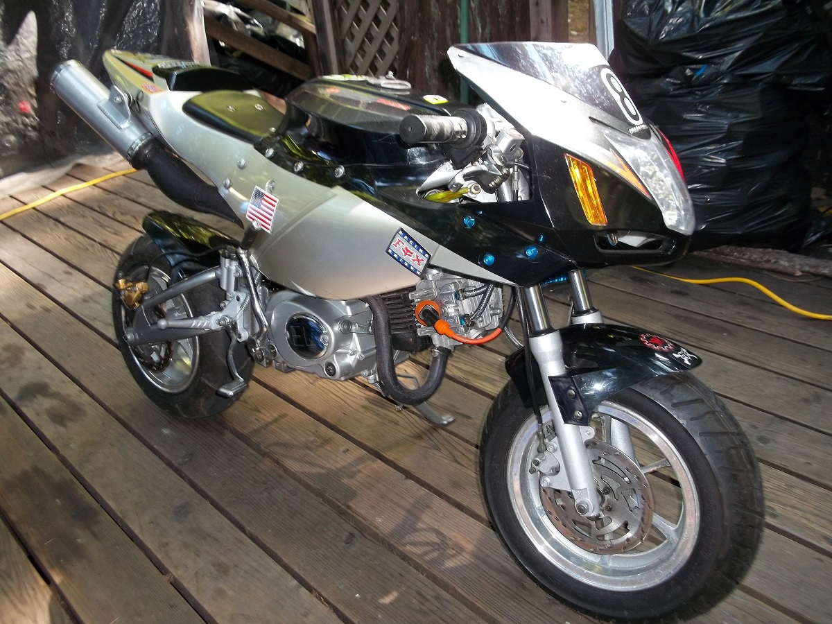 when rider sit on the bike 549 X-19 Pocket Bike RIGHT Side UPPER Cover