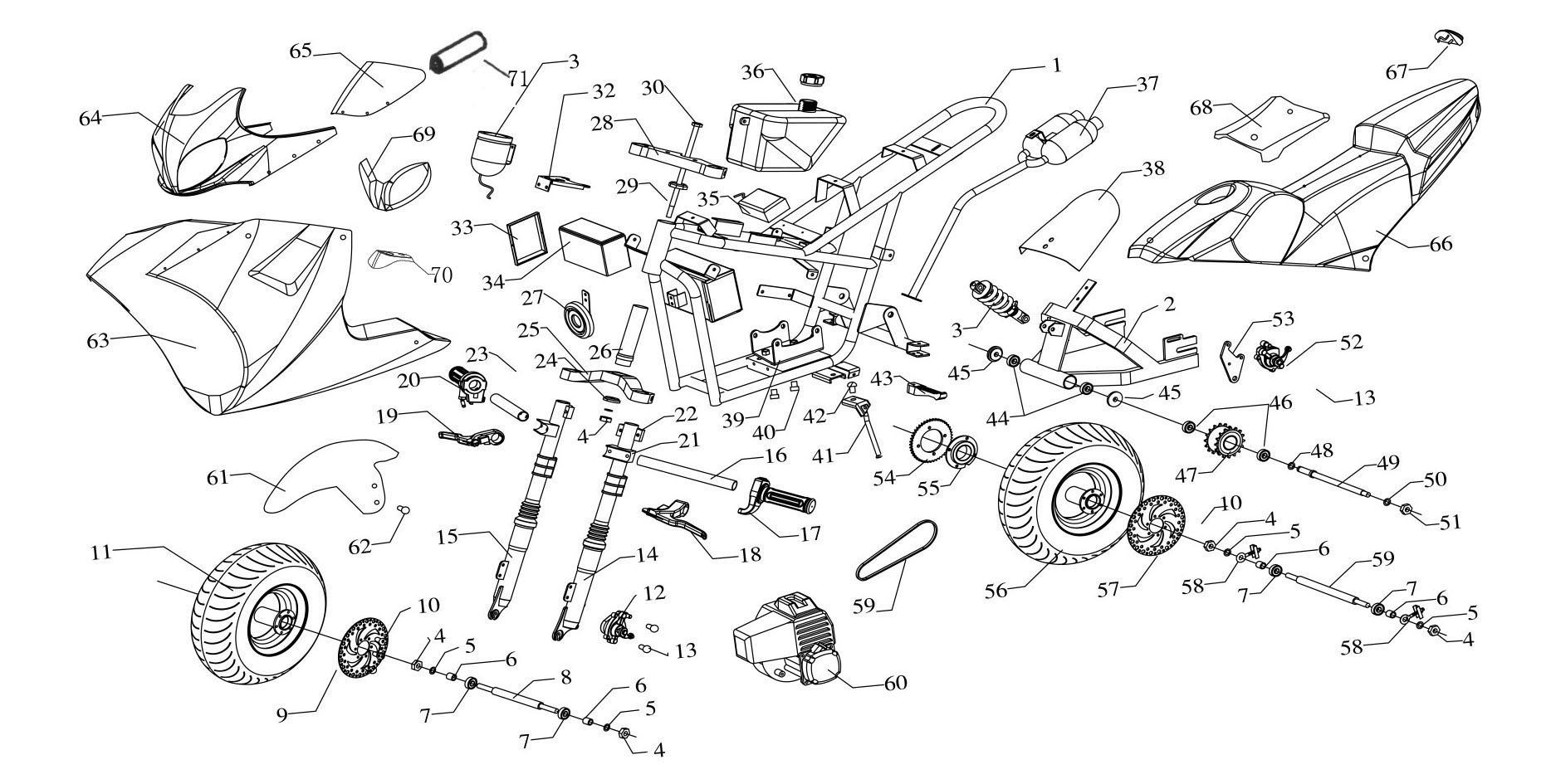 Need Pocket Bike 49cc Engine Diagram Pocketbike Forum