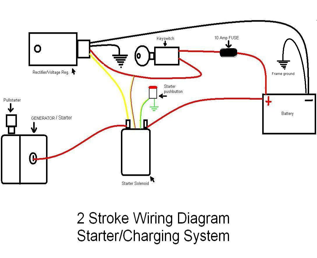 how to wire igniton electric start   Pocketbike Forum